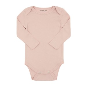 HART + LAND Lap Shoulder Long Sleeve Bodysuit in Sepia Rose