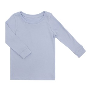 HART + LAND Long Sleeve Tee in Solid Blue