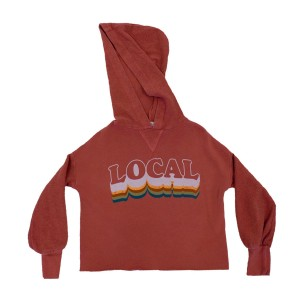Junk Food Brick Red Hooded Sweatshirt with Local Print