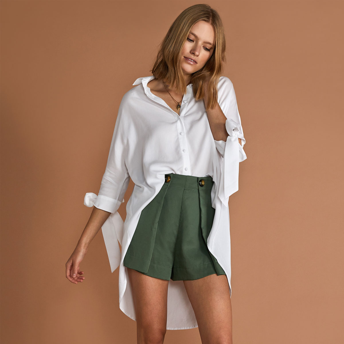 Sancia Ophelie Blouse in White on woman