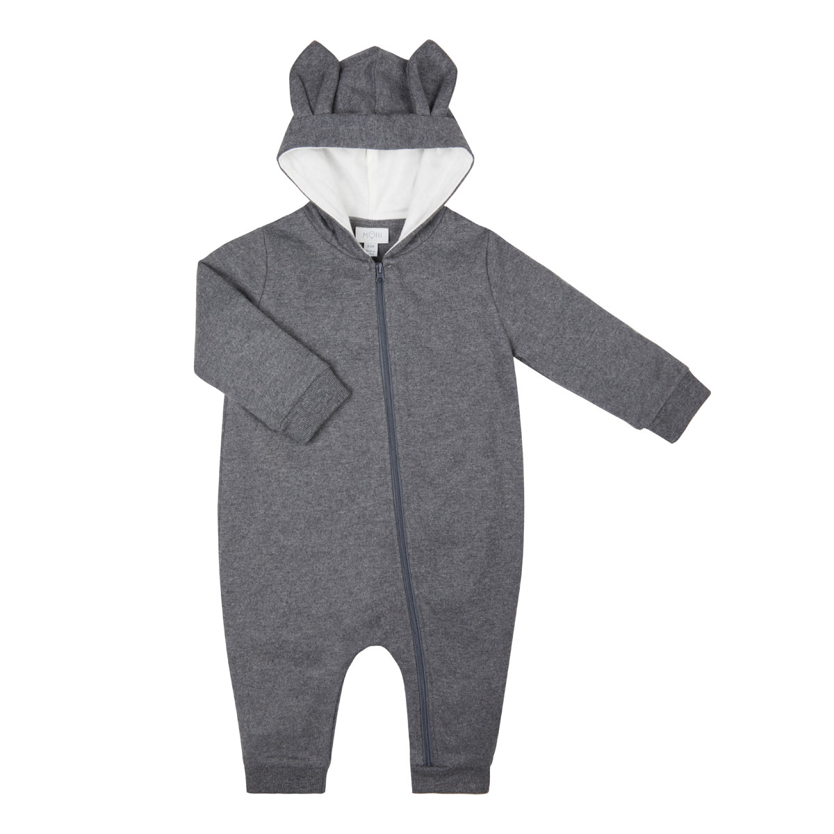 Mori Animal Family Onesie in Grey