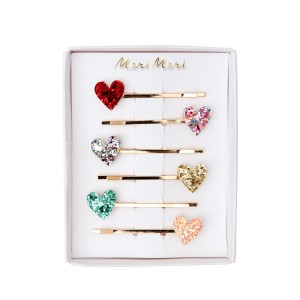 Meri Meri Heart Glitter Hair Slides