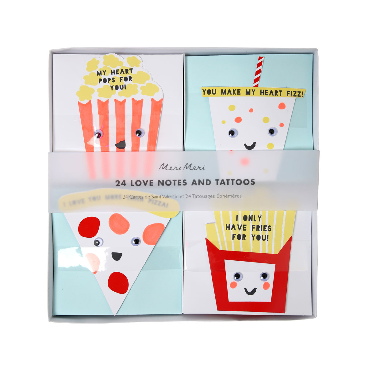 Meri Meri Tattoo Notecards in Fun Food