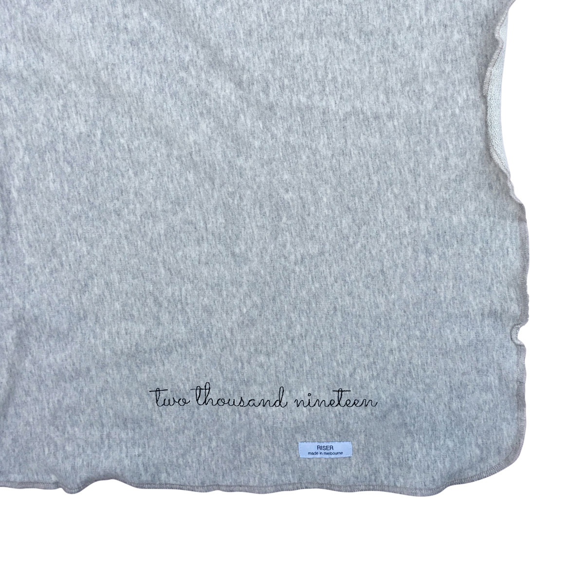Early Riser Blanket in Grey Melange with 2019 Embroidery