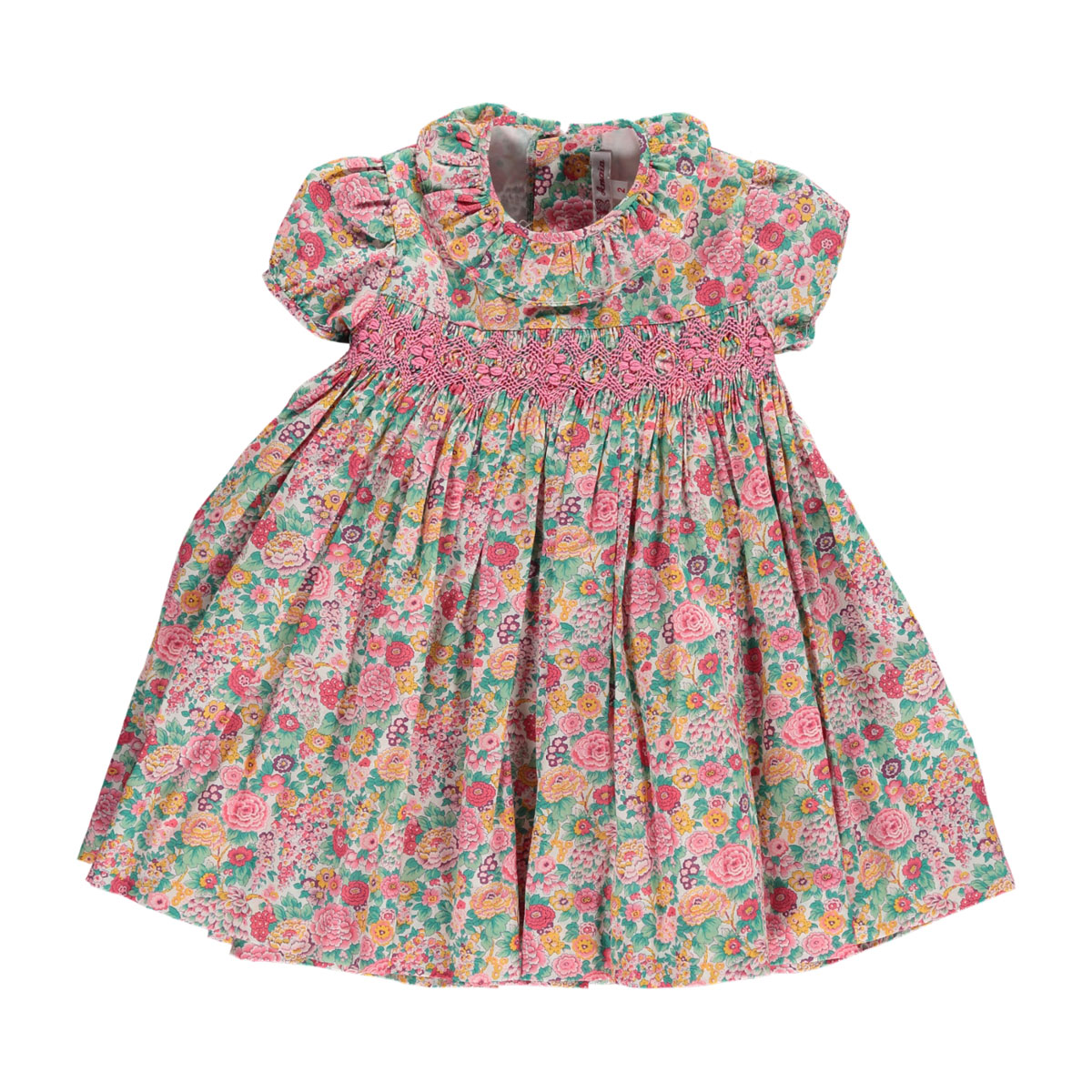 Amaia Moohren Short Sleeve Dress in Pink Floral