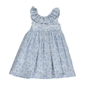 Amaia Sleeveless Poppy Dress in Liberty Blue