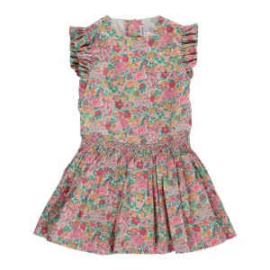 Amaia Sleeveless Victoria Dress in Pink Floral