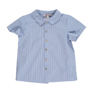 Amaia Short Sleeve Chickadee shirt in blue Stripe