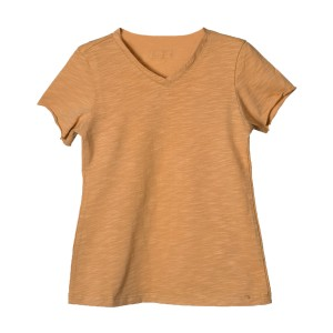 Little Hedonist Organic Cotton Short Sleeve Nik T-Shirt in Sand Color