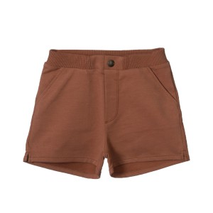 Little Hedonist Organic Cotton Billy Shorts in Mocha