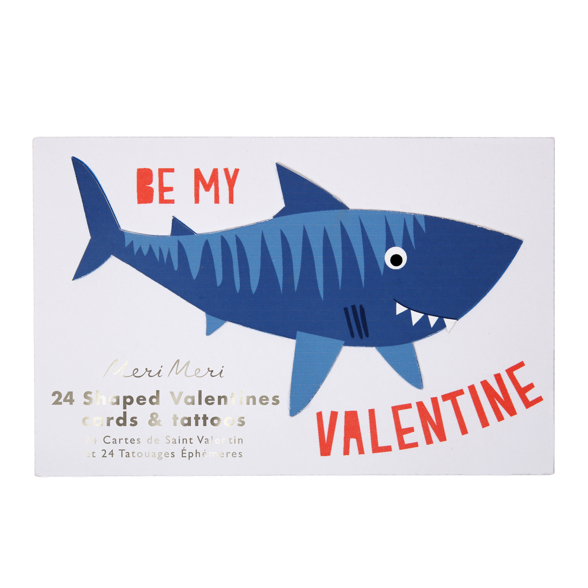 Meri Meri Tattoo Notecards in Sharks