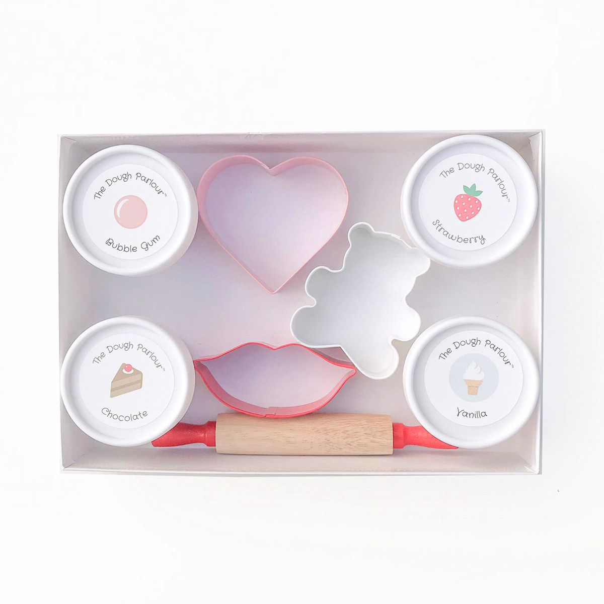 The Dough Parlour Valentine's Day Scented Modeling Dough Set