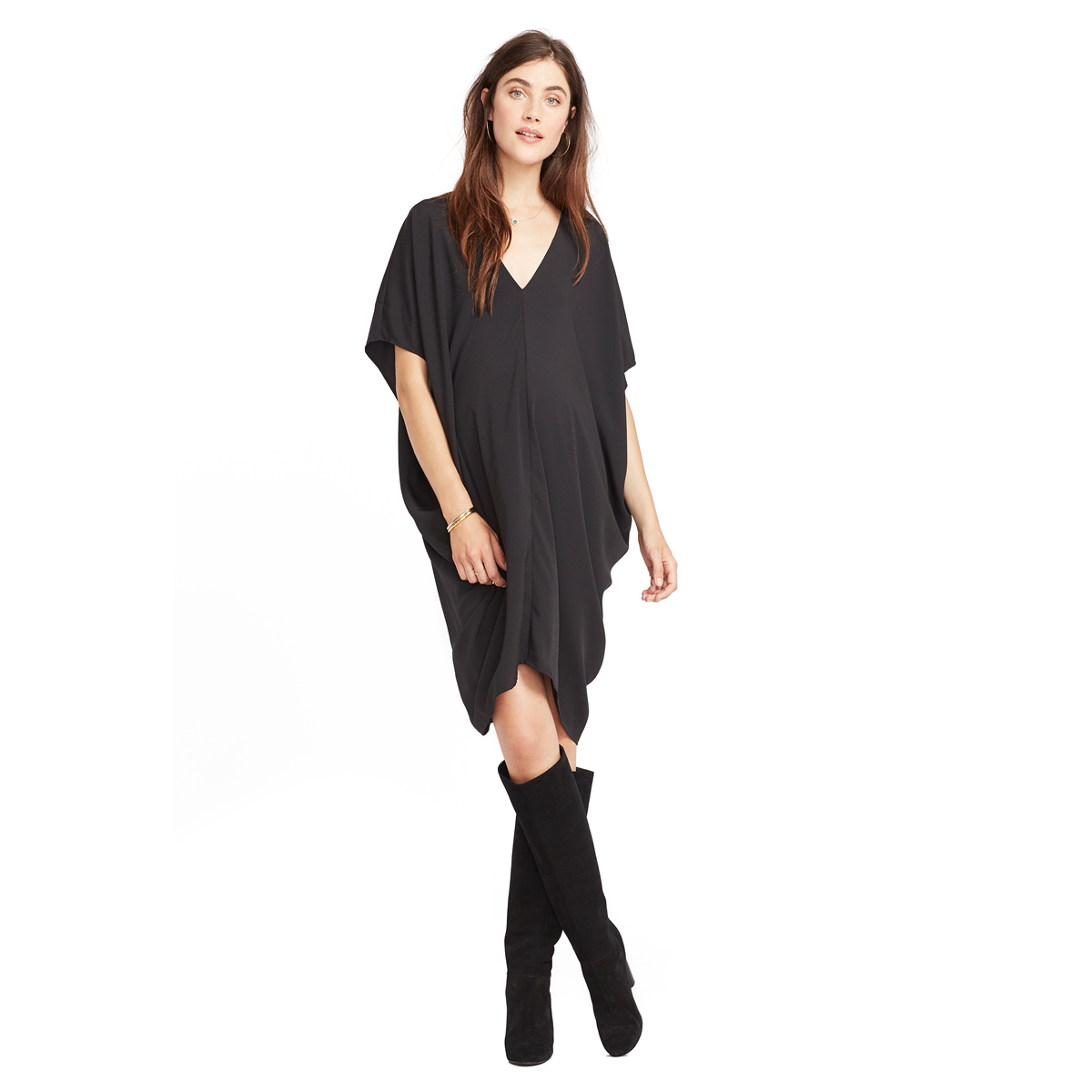 Hatch Collection The Slouch Dress in Black