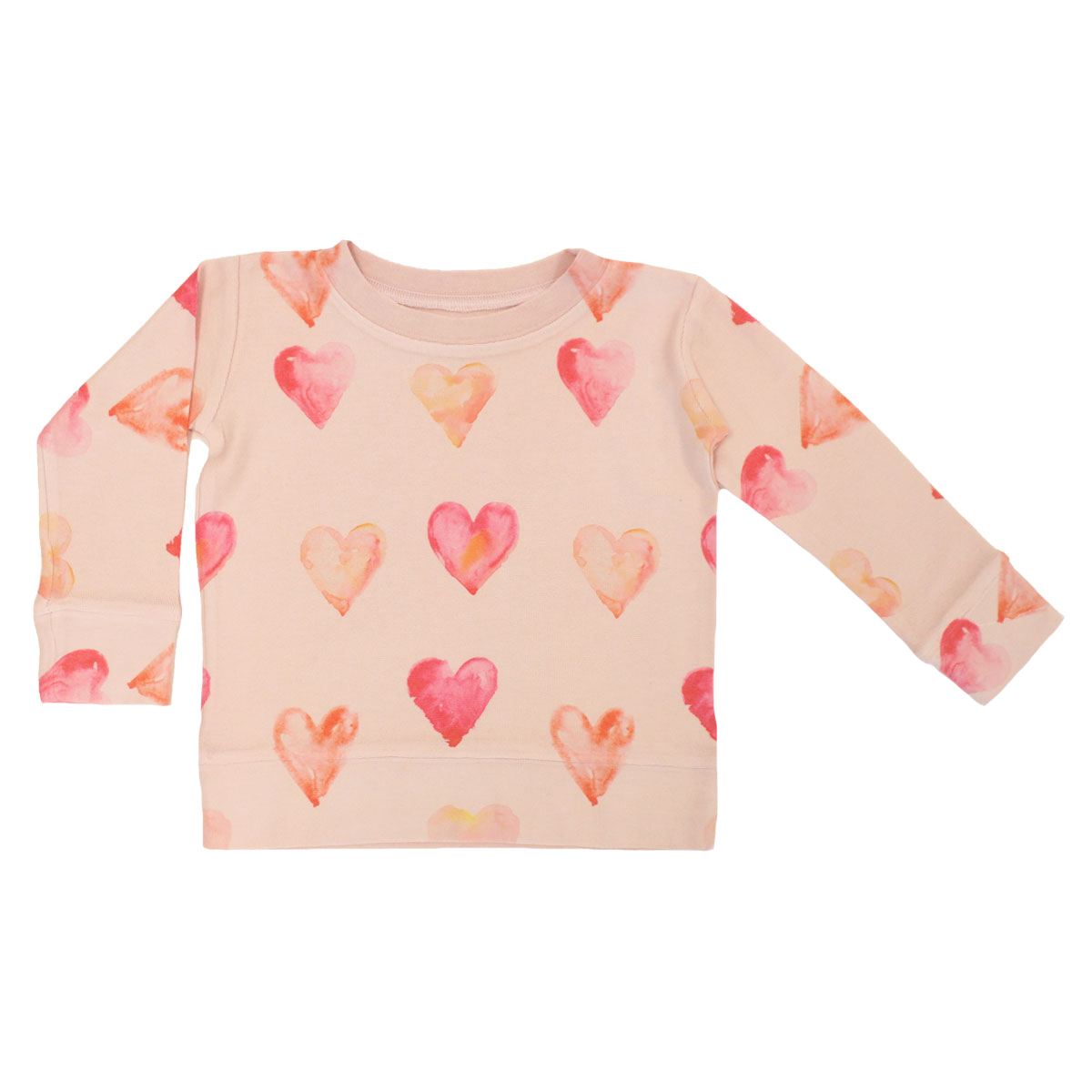 Brokedown Kids Sweatshirt in Pink with Pink hearts