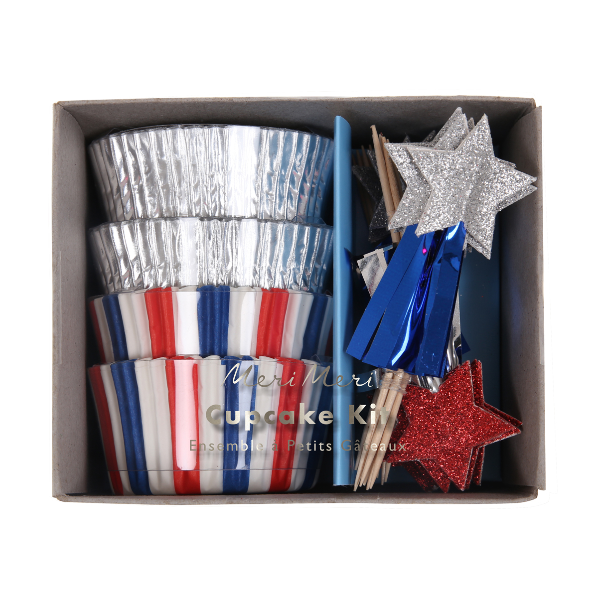Meri Meri July 4th Cupcake Kit