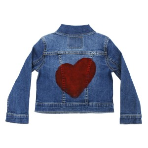 Levi's Denim Trucker Jacket with hand-painted solid heart