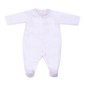 Laranjinha Footie with Checkered Collar in Pink