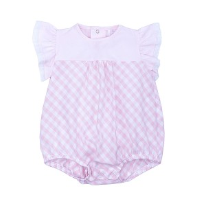 Laranjinha Bubble with Checkered Bloomer in Pink