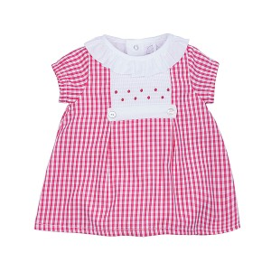 Laranjinha Dress Bodysuit in Checkered Rasberry