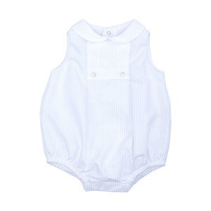 Laranjinha Sleeveless Bubble in Blue Stripe with White Collar