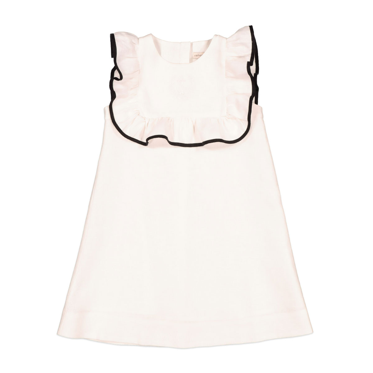 Carbon Soldier Banana Kick Sleeveless Dress in Ivory and Black
