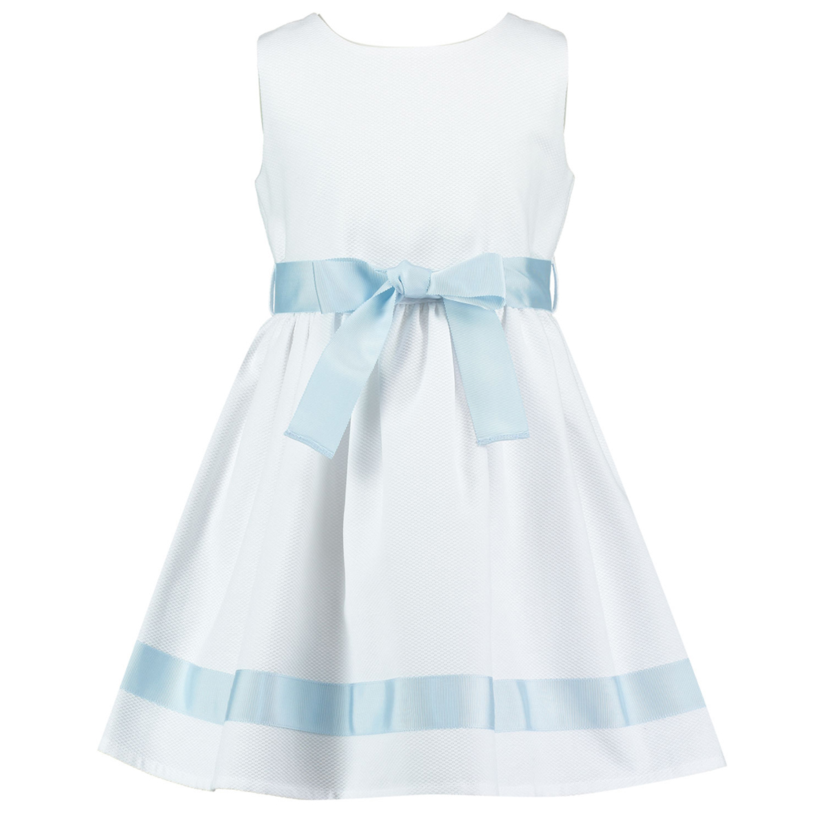Holly Hastie Dress Charlotte In White Blue Pique