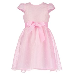 Holly Hastie Dress in Pale Pink Organza Spot