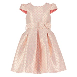 Holly Hastie Dress Pink Floral Jacquard