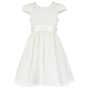 Holly Hastie Dress in White Embroidered