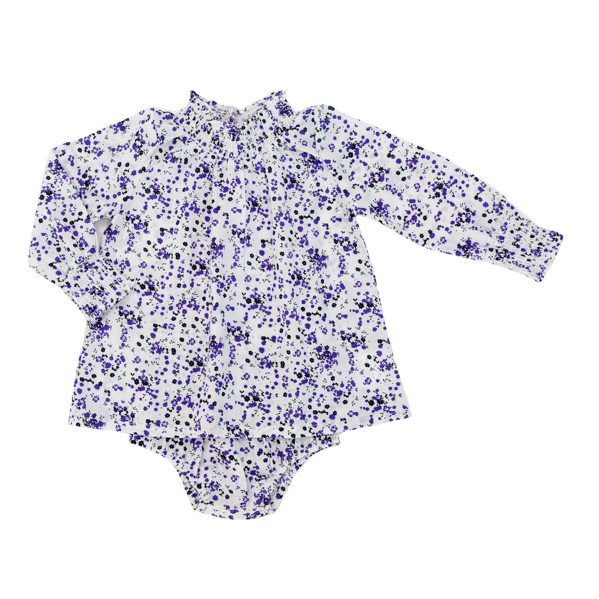 Madras Made Long Sleeve Cotton Top & Bloomer set in Bali