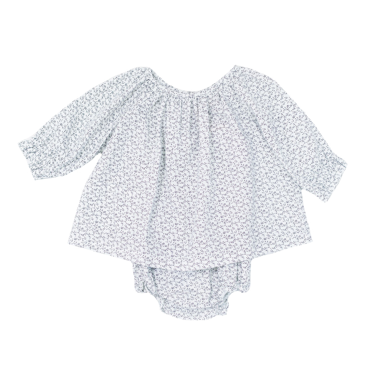 Madras Made Long Sleeve Cotton Top & Bloomer set in Parri