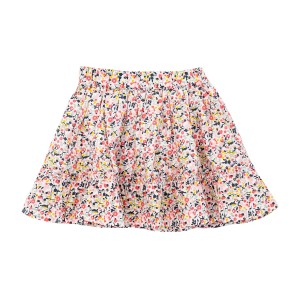 Madras Made Ibiza Skirt in Pink Floral print