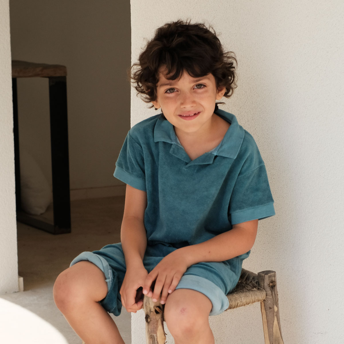 We Are Kids Leonard Polo in Baby Blue on boy