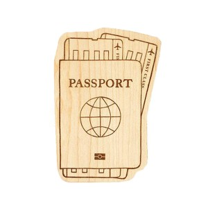 LexyPexy Wooden Passport-shaped teether