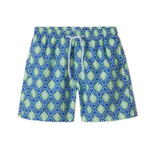 Stella Cove Swim Trunks in Blue with Green Seahorses