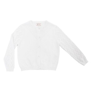 Morley Cotton Justine Cardigan in White