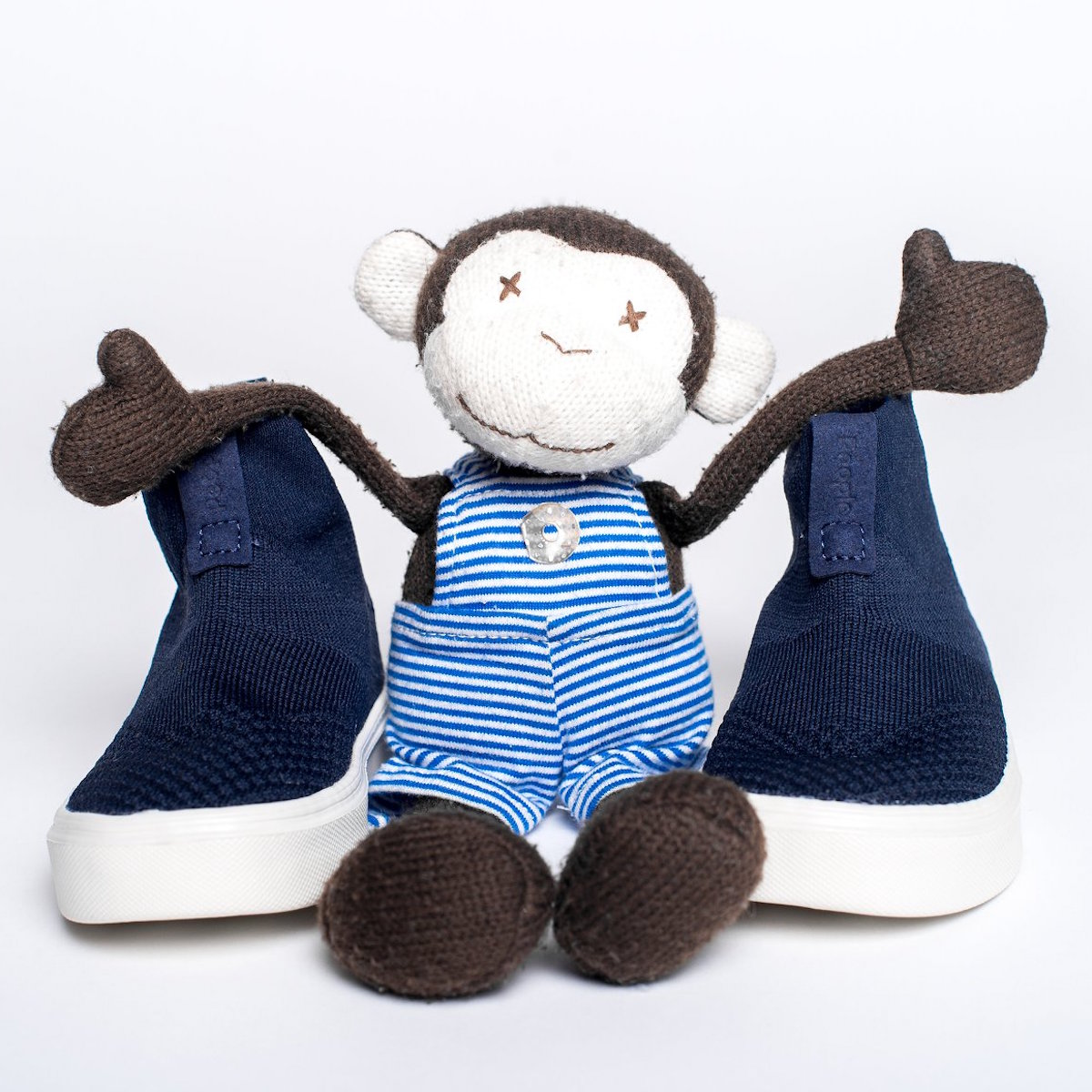 People Footwear Blue Shoes and Monkey