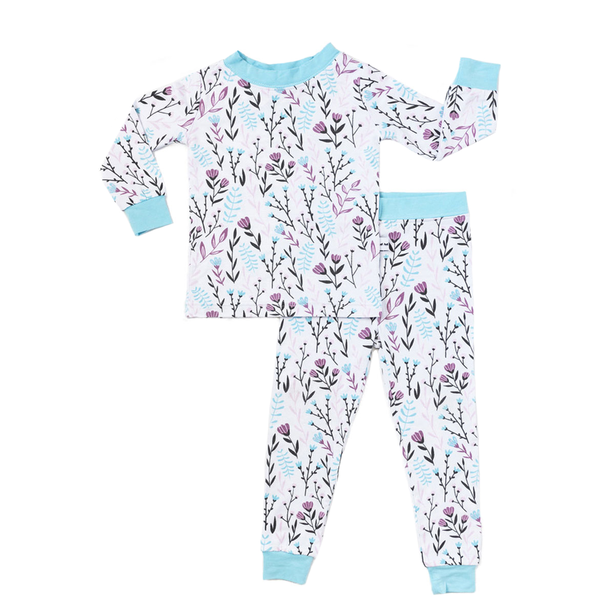 Little Sleepies Bamboo PJ Set in Wildflower Print