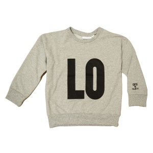 Gardner and the Gang Women's Sweatshirt in grey with black LO on front and VE on back