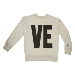 Gardner and the Gang Women's Sweatshirt in grey with black VE on front and LO on back