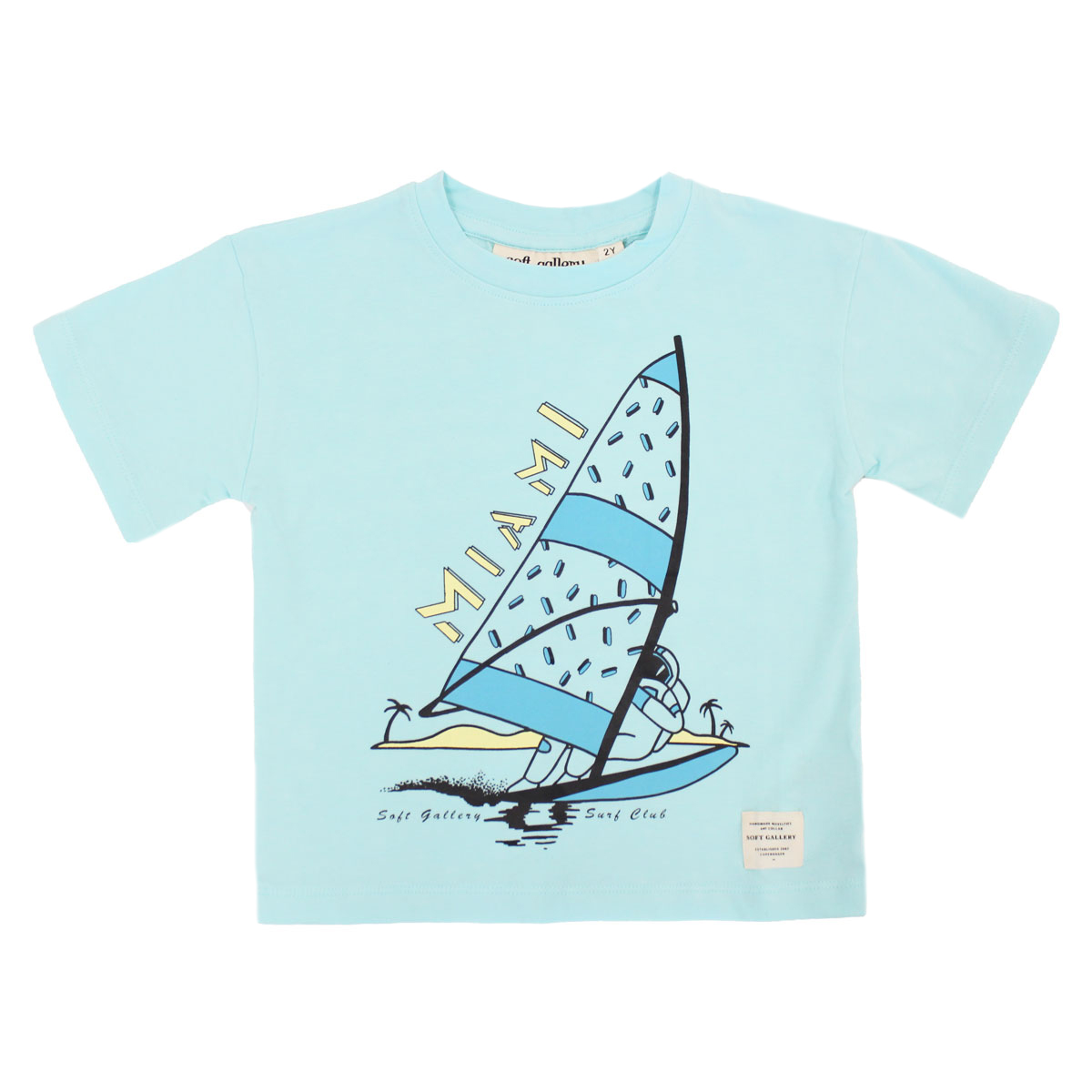 Soft Gallery Asger T-Shirt in Miami Blue