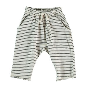 My Little Cozmo Ibiza Trousers in Ivory & Charcoal Stripe