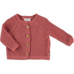 My Little Cozmo Knit Cardigan in Carnelian Red