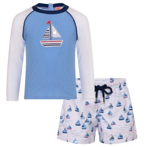 Sunuva SS19 Rashguard in Little Boats w/ matching rashguard