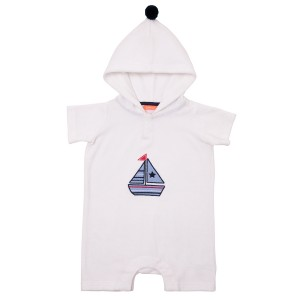 Sunuva SS19 Towelling Onesie in Little Boat