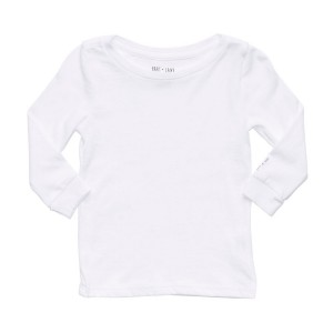 Hart + Land Long Sleeve Tee in Solid White