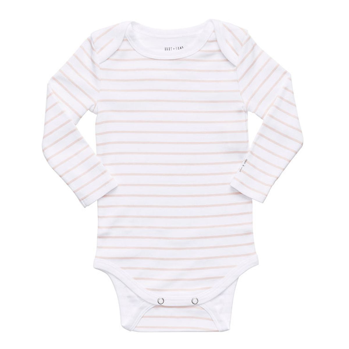 Hart + Land Long Sleeve Bodysuit in Sepia Rose Stripe