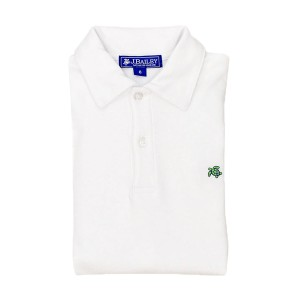 Bailey Boys Short Sleeve Henry Polo in white