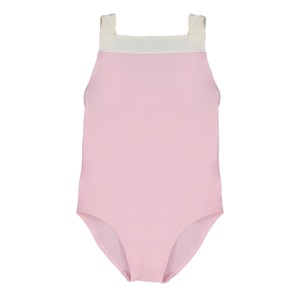 Canopea One Piece Layla Swimsuit in Dragee Pink and White