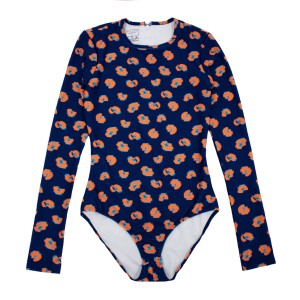 Cover Swim x The Tot Long Sleeve Swimsuit in Exclusive Navy Leopard Print